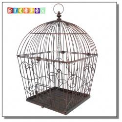 DecoBox藤舞花語古銅鳥籠大花架(多肉防鳥花架)