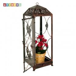 DecoBox鄉村風-地中海燭台花架(大-1個) ( 金屬燭台.耶誕節飾品,玻璃鳥籠.lantern)