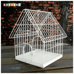 DecoBox陽光藝術刷白鳥籠大花架(多肉防鳥花架)