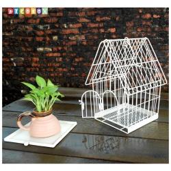 DecoBox陽光藝術刷白鳥籠小花架(多肉防鳥花架)