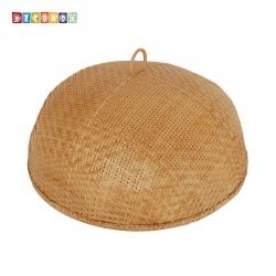 MS圓形竹編煙薰桌罩(直徑60公分)(宴王.燈罩.露營食物罩,野餐)