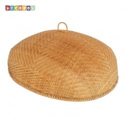 MS橢圓竹編煙薰桌罩(60*75公分)(宴王.燈罩.露營食物罩,野餐)