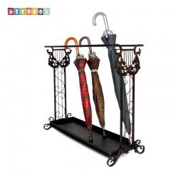 DecoBox豎琴長方形大容量傘架(傘架.紙簍.收納桶.花盆套.鍛鐵藤編)