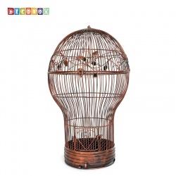 DecoBox燈泡古銅大花架(鳥籠,燈泡多肉防鳥花架,園藝,花台,花插,鍛鐵展示架)