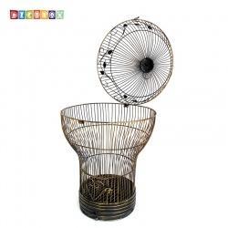DecoBox燈泡青銅大花架(鳥籠,燈泡多肉防鳥花架,園藝,花台,花插,鍛鐵展示架)