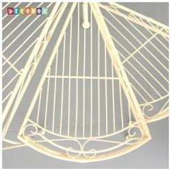 DecoBox鄉村風-米白螺旋花架(園藝.三層旋轉展示架.樓梯盆景架.展示架)