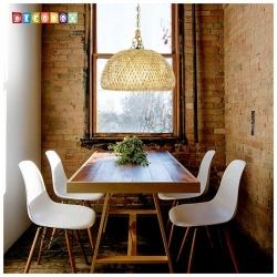 DecoBox中國風多層編織竹燈罩(45公分-原色)-不含燈泡,線材(桌燈罩.立燈罩.吊燈罩,宴王)