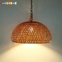 DecoBox中國風多層編織竹燈罩(55公分-原色)-不含燈泡,線材(桌燈罩.立燈罩.吊燈罩,宴王)