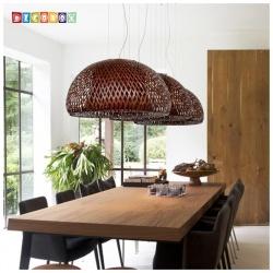 DecoBox中國風多層編織竹燈罩(55公分-咖啡色)-不含燈泡,線材(桌燈罩.立燈罩.吊燈罩,宴王)