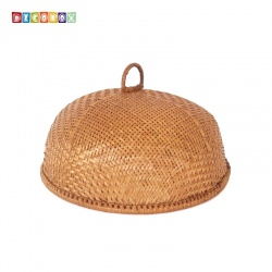 MS圓形竹編煙薰桌罩(直徑35公分)(宴王.燈罩.露營食物罩,野餐)